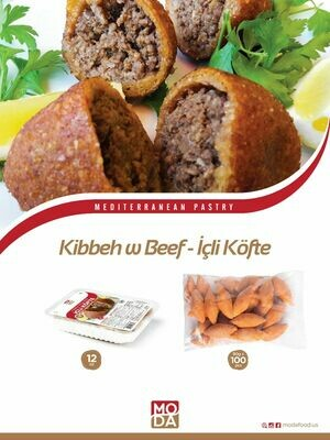 Hatay usulu icli kofte( Kubbeh) 5 pcs 12oz Moda Food