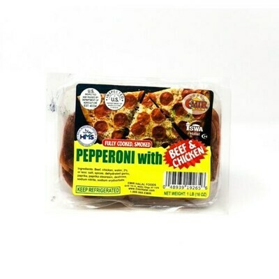 EMIR SLICED PEPPERONI WITH BEEF & CHICKEN 1LB