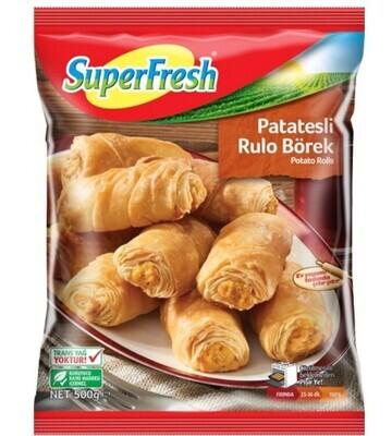 SUPERFRESH MINI ROLL BOREK W POTATO 500GR  (Frozen)