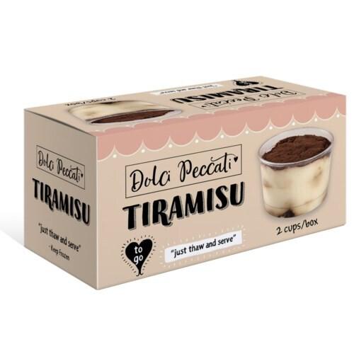 Dolci Peccati Tiramisu Ready to Eat Cake  200gr * 3 pcs