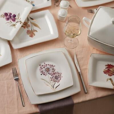 KARACA FINE PEARL REVIVE 62 PIECES DINNER SET SQUARE