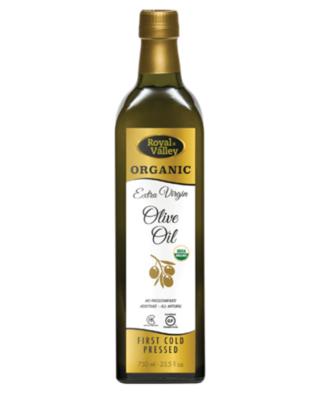 ROYAL VALLEY ORGANIC EXTRA VIRGIN OLIVE OIL 750ML