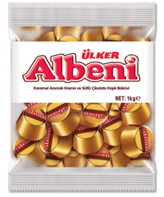 ULKER ALBENI KARAMEL DOLGULU CIKOLATA 1kg