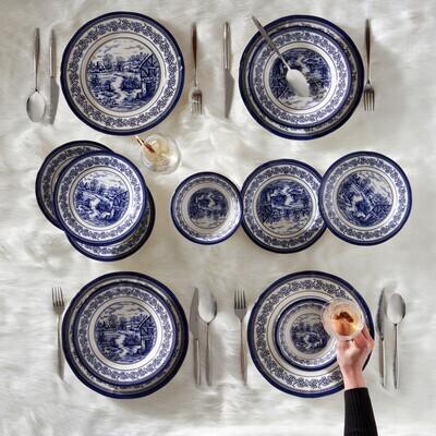 KARACA BLUE TOWN 6 PERSON DINNER SET