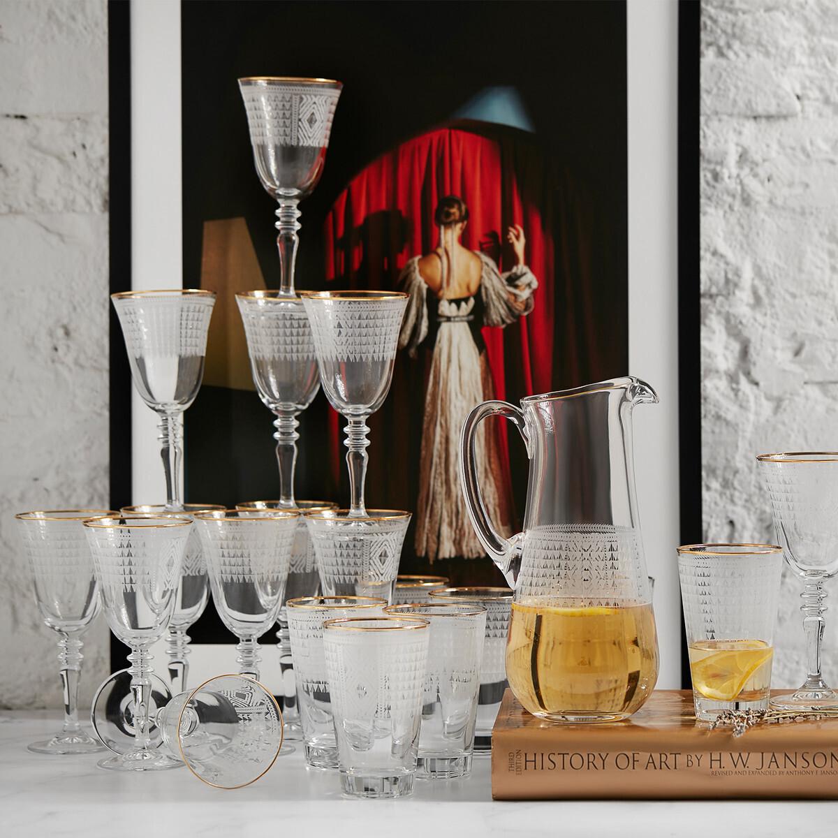 KARACA BATİK 25 PIECES GLASS SET GOLD