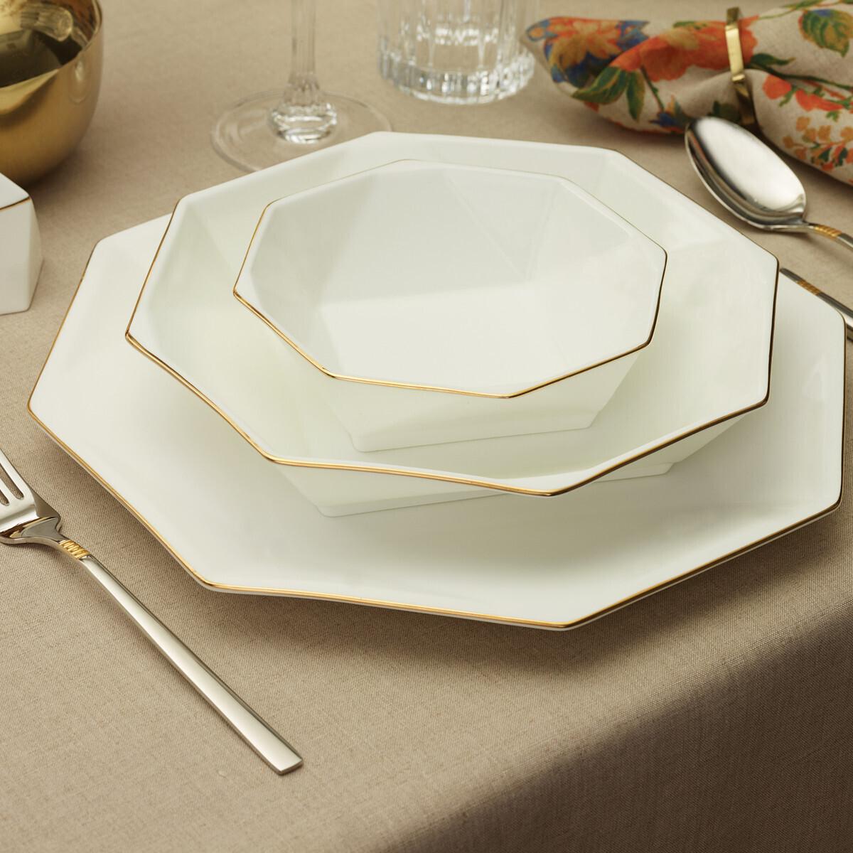 KARACA FINE PEARL EXTRA QUARTZ GOLD 62 PIECES DINNER SET