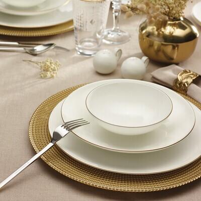 KARACA FINE PEARL EXTRA CHANAK GOLD 62 PIECES DINNER SET