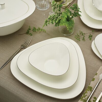 KARACA FINE PEARL EXTRA TRIO PLATIN 62 PIECES DINNER SET