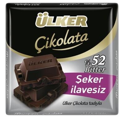 ULKER NO SUGAR ADDED BITTER CHOCOLATE %52 60GR
