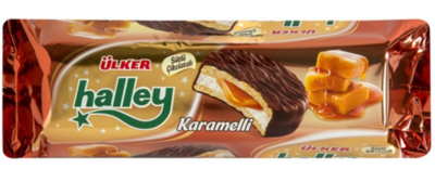 ULKER HALLEY CARAMEL BISCUIT 236GR