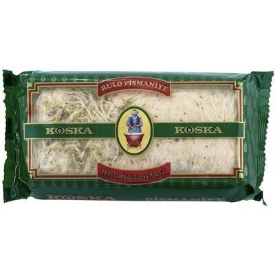 Koska Fistikli Tel Pismaniye Turkish Traditional Floss Halva - Pişmaniye (pistachios)