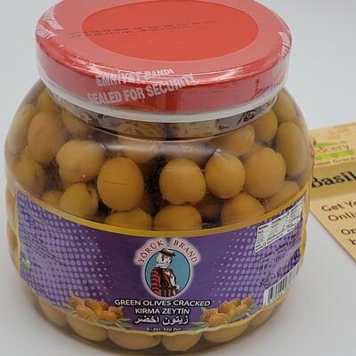 Yoruk Brand Green Olives  Cracked Small Size 700gr Cizik Zeytin