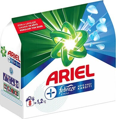 ARIEL POWDER LAUNDRY DETERGENT / TOZ CAMASIR DETERJANI FEBREZE 1.2 KG