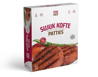 Moda Halal Moda Sujuk Kofte Patties, 12 oz Burgers Hamburgers