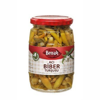 BERRAK HOT PEPPER PICKLES 720ml Glass