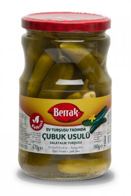 Berrak Gherkin Pickles (cubuk usulu) 720 ml