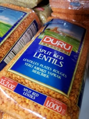 Duru Split Red Lentils 1kg Mercimek