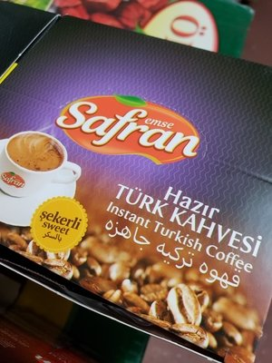 Safran Instant Turkish coffee 12 packages with Sugar