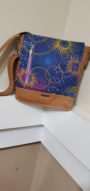Messenger Bag w/fabric&vinyl