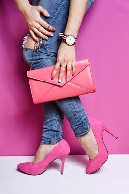Berry Pink Panther Clutch