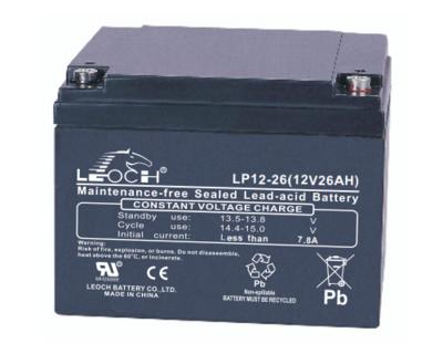 LP12-26 Battery LP 12V 26.0AH L(6.54 inches) x W(6.93 inches) x T H(4.92 inches) Weight 17.2LBS LEOCH