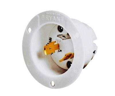 71130MB Flanged inlets twist-lock 2P3W 30A 250V (L11-30P) white Hubbell