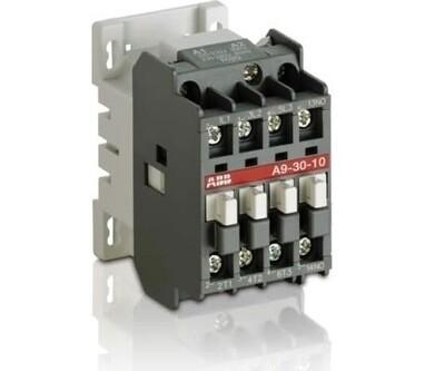 A9-30-10-84  Contactor, 9A, 3P, 600VAC, IEC, 120VAC Coil ABB