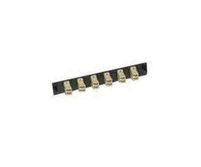 AX100092 Panel F.O. 6 SC MM simplex FiberExpress black Belden