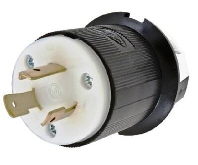 HBL2321 Plug twist-lock 2P3W 20A 250V (L6-20P) insulgrip black Hubbell