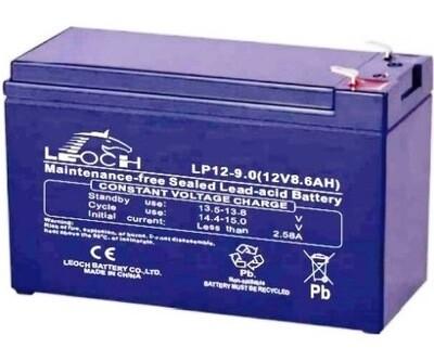 LP12-9 Battery LP 12V 9.0AH L(5.95 inches) x W(2.56 inches) x T H(3.90 inches) Weight 5.87LBS LEOCH