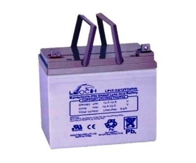 LP12-33 Battery LP 12V 33.0AH L(7.68 inches) x W(5.12 inches) x T H(7.01 inches) Weight 23.2LBS LEOCH