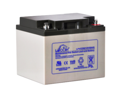 LPX12-38-T6  Battery LP 12V 36.6AH L(7.76 inches) x W(6.50 inches) x T H(6.69 inches) Weight 23.2LBS LEOCH