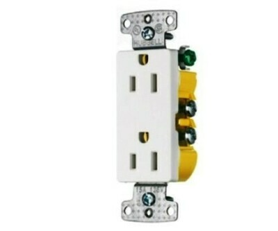 RRD15W Receptacle straight blade 2P3W 15A 125V (5-15R) duplex home select white Hubbell