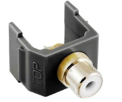 SFRCWBK Jack RCA solder termination white Hubbell
