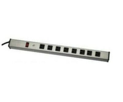 UL401BC Power strips vertical front 8 outlets Wiremold