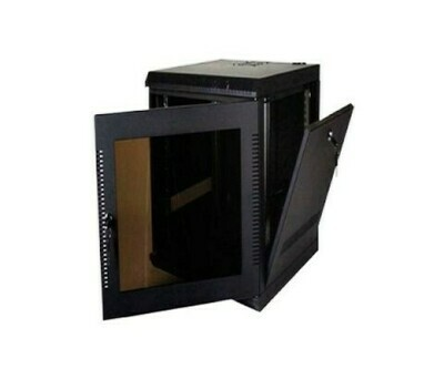 """3142-3-001-18 Cabinet Wallmount 18U 23.5""""W x 23.5""""D x 35.21""""H Door Vented Kendall"""