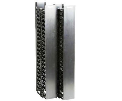 """WMPV45E Organizer Vertical 45U 83""""H x 4.9""""W x 12""""D dual sided (2) 22.5RU with cover black Panduit"""
