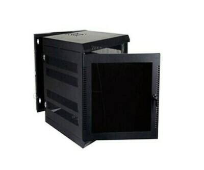 """WM3019-09-02 Cabinet Wallmount 9U 18awg 20.5""""W x 23.5""""D x 27""""H 300 series black Quest"""