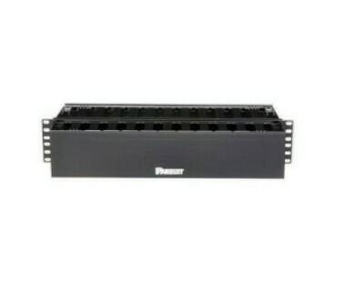 "WMP1E Organizer horizontal 19"" 3.5""H X 19""W X 8.9""D dual sided with cover black 2U Panduit"