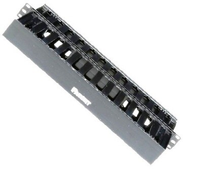 "WMPSE Organizer horizontal 19"" 1.7""H X 19""W X 8.9""D dual sided with cover black 1U Panduit"
