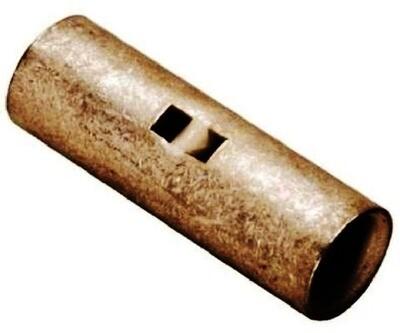 YRV4CV6CL Cu Reducer Butt Splice, W/InspWindow, Barrel A:4 Barrel C:6 (Str) Burndy