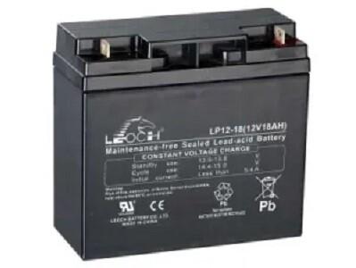 LP12-18 Battery LP 12V 18.0AH L(7.14 inches) x W(3.03 inches) x T H(6.59 inches) Weight 11.9LBS LEOCH
