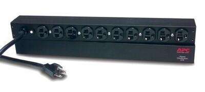 AP9562 PDU Horizontal basic 15A 100/120V (in 5-15P) (out (10)5-15R) 1UR cord 3.7Mtrs APC