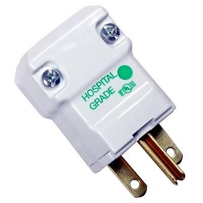 HBL8666V Plug hospital 2P3W 15A 250V (6-15P) white Hubbell
