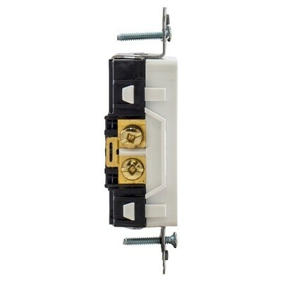 DR20C2WHI Receptacle straight blade 2P3W 20A 125V (5-20R) duplex decorator white Hubbell