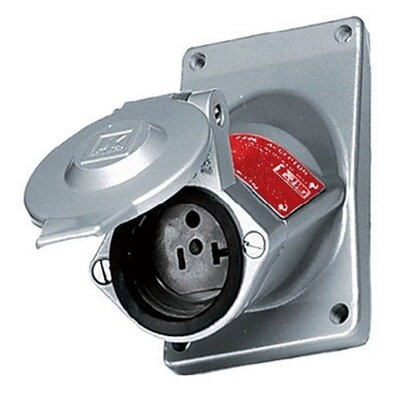 UGRO20231 Receptacle explosion proof straight blade single 2P3W 20A 125V (5-20R) metallic Hubbell