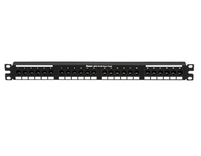 DP24688TGY Patch panel 24 PTO CAT6 1U black Panduit