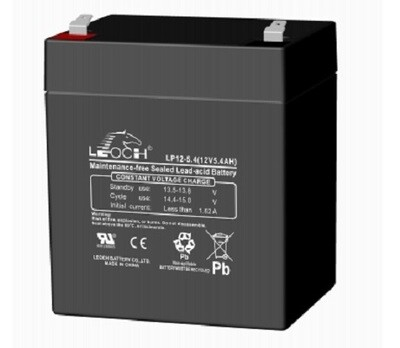 LP12-5.4 Battery 12V 5.4AH L(3.54 inches) x W(2.76 inches) x T H(4.21 inches) Weight 3.3LBS Terminal T1 LEOCH