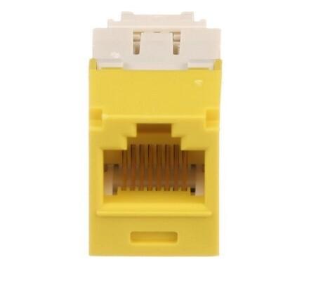 CJ688TGYL  Jack CAT6 universal mini-com yellow Panduit