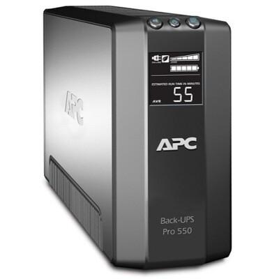 BR550GI  UPS 550VA Pro (in 230V IEC C14) (out 3 IEC C13-Battery 3 IEC C13 TVSS and 2 IEC Jumpers TVSS) Apc